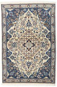 Nain Rug 92X135 Authentic  Oriental Handknotted Beige/Dark Grey/Light Grey (Wool, Persia/Iran)
