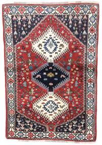 Yalameh Rug 99X144 Authentic  Oriental Handknotted Dark Grey/Light Grey (Wool, Persia/Iran)