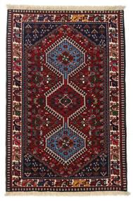 Yalameh Tappeto 83X127 Orientale Fatto A Mano Rosso Scuro/Grigio Chiaro (Lana, Persia/Iran)