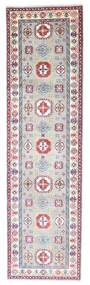 Kazak Rug 80X293 Authentic  Oriental Handknotted Hallway Runner  Light Grey/White/Creme (Wool, Pakistan)