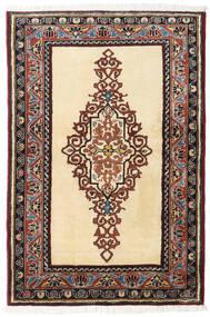 アルデビル 絨毯 86X128 オリエンタル 手織り ベージュ/濃い茶色 (ウール, ペルシャ/イラン)