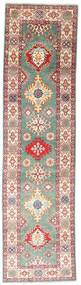 Kazak Rug 80X300 Authentic  Oriental Handknotted Hallway Runner  Light Grey/Brown (Wool, Pakistan)