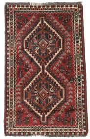 Sziraz Dywan 75X122 Orientalny Tkany Ręcznie Ciemnoczerwony/Czarny (Wełna, Persja/Iran)