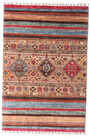 Shabargan 絨毯 99X147 モダン 手織り 深紅色の/錆色 (ウール, アフガニスタン)