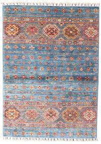 Shabargan 絨毯 106X146 モダン 手織り ベージュ/薄紫色 (ウール, アフガニスタン)