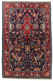 Mahal Tapis 89X138 D'orient Fait Main Noir/Rouge Foncé (Laine, Perse/Iran)