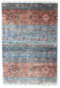 Shabargan 絨毯 102X152 モダン 手織り 濃いグレー/水色 (ウール, アフガニスタン)