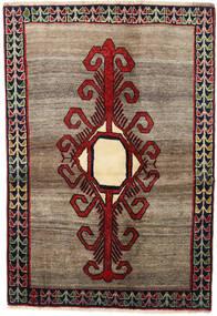 Shiraz Tapis 130X188 D'orient Fait Main Marron Foncé/Gris Clair (Laine, Perse/Iran)