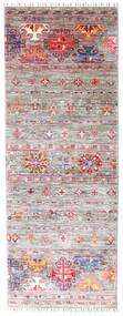 Shabargan 絨毯 78X207 モダン 手織り 廊下 カーペット 薄い灰色/薄紫色 (ウール, アフガニスタン)
