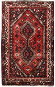 Shiraz Covor 118X190 Orientale Lucrat Manual Roșu-Închis/Negru (Lână, Persia/Iran)