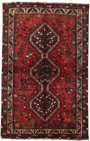 Shiraz Matta 145X228 Äkta Orientalisk Handknuten Mörkröd/Svart (Ull, Persien/Iran)