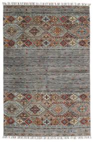 Shabargan Χαλι 116X180 Σύγχρονα Χειροποιητο Ανοιχτό Γκρι/Λευκό/Κρεμ (Μαλλί, Αφγανικά)