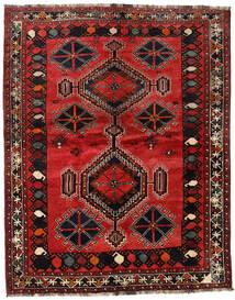 Shiraz Covor 167X208 Orientale Lucrat Manual Roșu-Închis/Maro Închis (Lână, Persia/Iran)