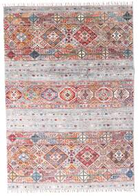 Shabargan Rug 121X174 Authentic Modern Handknotted White/Creme/Light Grey (Wool, Afghanistan)