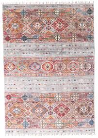 Shabargan Matta 121X174 Äkta Modern Handknuten Vit/Cremefärgad/Ljusgrå (Ull, Afghanistan)