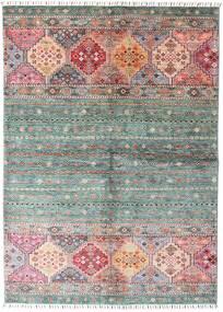 Shabargan Matto 148X209 Moderni Käsinsolmittu Tummanharmaa/Vaaleanpunainen (Villa, Afganistan)