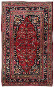 Mashad Rug 140X229 Authentic Oriental Handknotted Dark Red/Dark Brown (Wool, Persia/Iran)