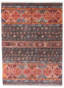 Shabargan Tapis 167X228 Moderne Fait Main Marron Foncé/Rouge Foncé (Laine, Afghanistan)