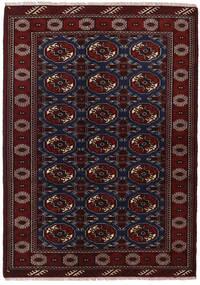 Turkaman Koberec 135X190 Orientální Ručně Tkaný Tmavě Červená (Vlna, Persie/Írán)
