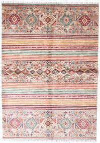Shabargan Matta 168X237 Äkta Modern Handknuten Ljusgrå/Beige (Ull, Afghanistan)