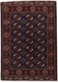 Turkaman Matta 136X193 Äkta Orientalisk Handknuten Mörkröd/Mörkgrå (Ull, Persien/Iran)