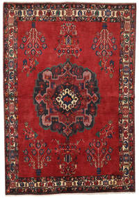 Afshar Rug 155X224 Authentic Oriental Handknotted Dark Red/Rust Red (Wool, Persia/Iran)