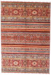 Shabargan Dywan 168X240 Nowoczesny Tkany Ręcznie Ciemnoczerwony (Wełna, Afganistan)