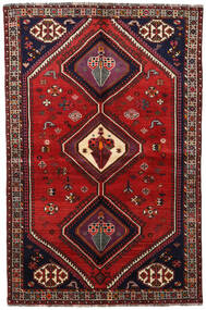 Ghashghai Tappeto 155X236 Orientale Fatto A Mano Rosso Scuro/Ruggine/Rosso (Lana, Persia/Iran)
