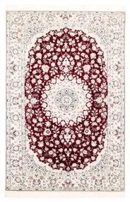 Nain 6La Matto 121X182 Itämainen Käsinkudottu Valkoinen/Creme/Vaaleanpunainen (Villa/Silkki, Persia/Iran)