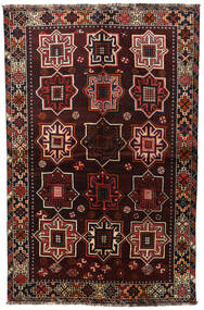 Shiraz Matta 153X236 Äkta Orientalisk Handknuten Mörkbrun/Mörkröd (Ull, Persien/Iran)