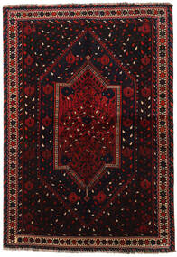 Shiraz Rug 158X226 Authentic  Oriental Handknotted Dark Red (Wool, Persia/Iran)