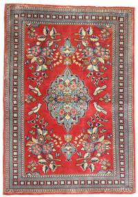 Hamadan Matta 80X115 Äkta Orientalisk Handknuten Mörkbrun/Roströd (Ull, Persien/Iran)