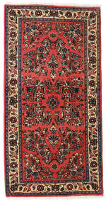 Sarouk Rug 71X145 Authentic Oriental Handknotted Dark Brown/Dark Red (Wool, Persia/Iran)