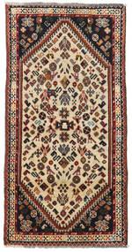 カシュガイ 絨毯 75X149 オリエンタル 手織り 濃い茶色/ベージュ (ウール, ペルシャ/イラン)