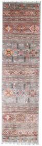Shabargan Matto 79X297 Moderni Käsinsolmittu Käytävämatto Vaaleanharmaa/Vaaleanvioletti (Villa, Afganistan)