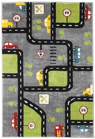 City Roads Sag 120X180 Moderni Tamnosmeđa/Crna ( Turska)