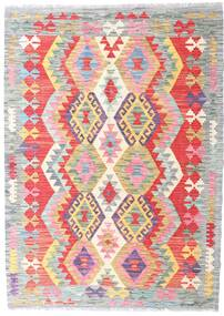 Kilim Afghan Old Style Rug 125X174 Authentic  Oriental Handwoven Light Grey/White/Creme (Wool, Afghanistan)