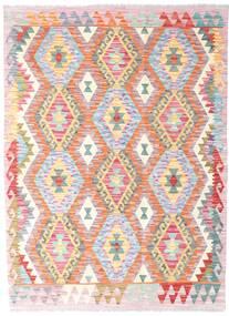 キリム アフガン オールド スタイル 絨毯 126X173 オリエンタル 手織り ライトピンク/ベージュ (ウール, アフガニスタン)