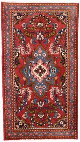Hamadan Matta 73X130 Äkta Orientalisk Handknuten Mörkröd/Roströd (Ull, Persien/Iran)