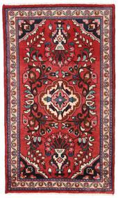 ハマダン 絨毯 75X126 オリエンタル 手織り 濃い茶色/錆色 (ウール, ペルシャ/イラン)
