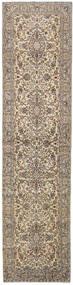 カシャン 絨毯 97X388 オリエンタル 手織り 廊下 カーペット 薄い灰色/ベージュ (ウール, ペルシャ/イラン)