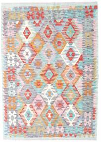 Kilim Afghan Old Style Rug 120X170 Authentic  Oriental Handwoven Beige/Light Pink (Wool, Afghanistan)