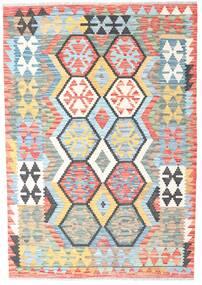 Kelim Afghan Old Style Teppich 129X184 Echter Orientalischer Handgewebter Beige/Weiß/Creme (Wolle, Afghanistan)