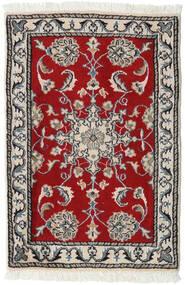 Nain Tappeto 60X90 Orientale Fatto A Mano Grigio Chiaro/Rosso (Lana, Persia/Iran)