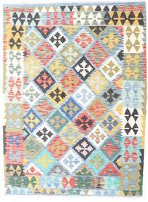 Kelim Afghan Old Style Matto 129X172 Itämainen Käsinkudottu Vaaleansininen/Valkoinen/Creme (Villa, Afganistan)