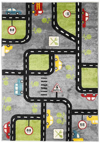 City Roads Rug 160X230 Modern Dark Grey/Light Grey/Black ( Turkey)