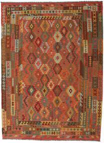 Kilim Afghan Old Style Rug 260X352 Authentic  Oriental Handwoven Brown/Crimson Red Large (Wool, Afghanistan)
