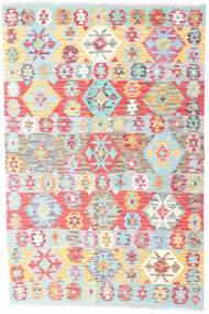 Kilim Afghan Old Style Rug 125X190 Authentic  Oriental Handwoven Beige/Light Pink (Wool, Afghanistan)