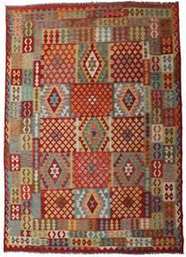 Kilim Afgan Old Style Dywan 312X448 Orientalny Tkany Ręcznie Ciemnoczerwony/Ciemnobeżowy Duży (Wełna, Afganistan)