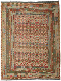 Kilim Afghan Old Style Rug 300X393 Authentic  Oriental Handwoven Brown/Light Brown Large (Wool, Afghanistan)